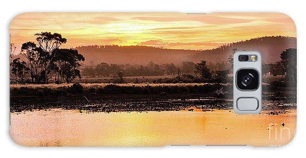 Sunset At Triabunna Tasmania Galaxy Case by Lexa Harpell