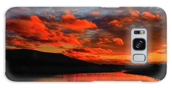 Sunset At Wallkill River National Wildlife Refuge Galaxy Case by Raymond Salani III