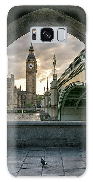 Sunset At Westminster Galaxy Case