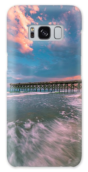 Sunset At Wilmington Crystal Pier In North Carolina Galaxy Case