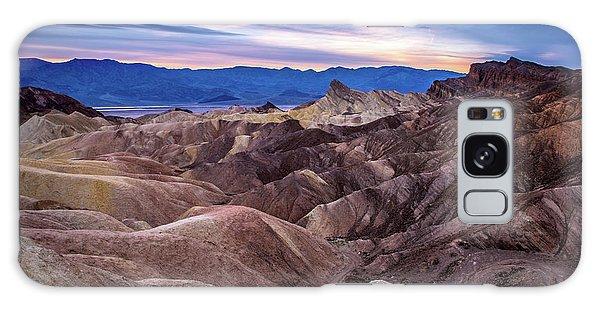 Sunset At Zabriskie Point In Death Valley National Park Galaxy Case