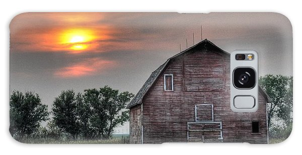 Sunset Barn Galaxy Case