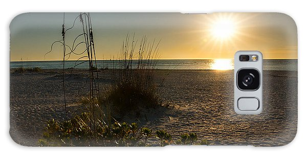 Sunset Beach Galaxy Case by Rebecca Hiatt