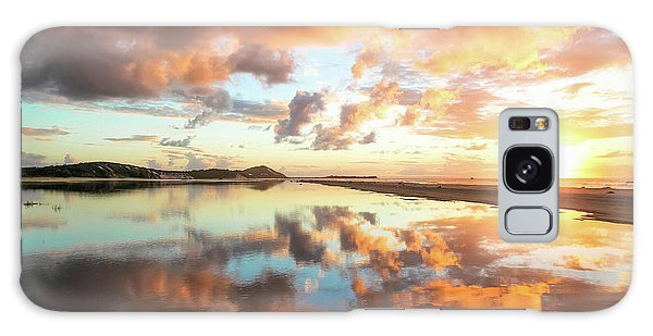 Sunset Beach Reflections Galaxy Case