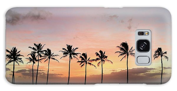 Sunset Behind The Palms Galaxy Case