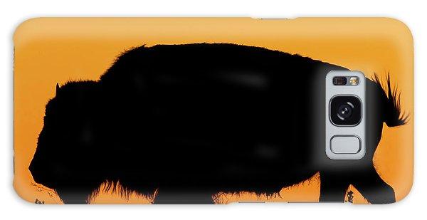 Sunset Bison 2 Galaxy Case