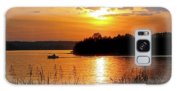 Sunset Boater, Smith Mountain Lake Galaxy Case