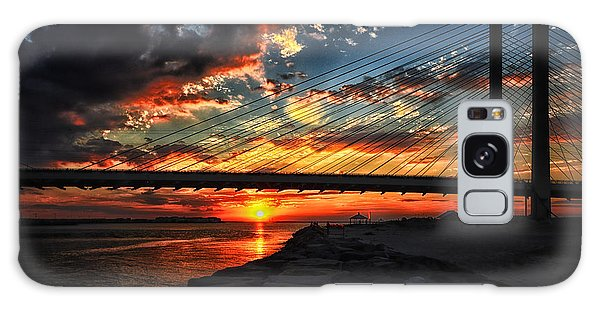 Sunset Bridge At Indian River Inlet Galaxy Case by Bill Swartwout
