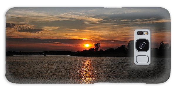 Galaxy Case featuring the photograph Sunset By The Inlet by Angel Cher