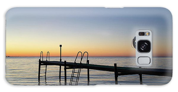 Sunset By The Old Bath Pier Galaxy Case