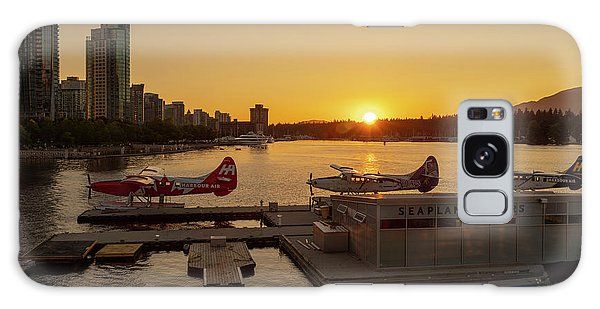 Sunset By The Seaplanes Galaxy Case