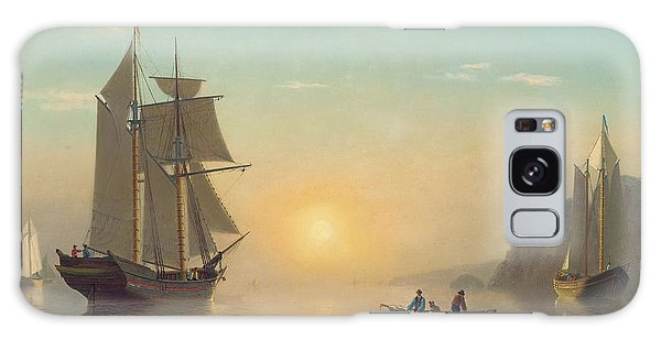 Boat Galaxy S8 Case - Sunset Calm In The Bay Of Fundy by William Bradford