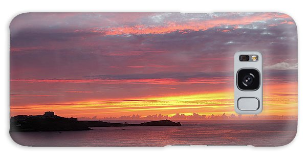Sunset Clouds In Newquay Cornwall Galaxy Case by Nicholas Burningham