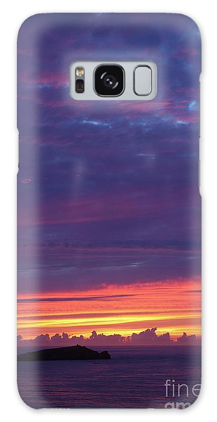 Sunset Clouds In Newquay, Uk Galaxy Case by Nicholas Burningham
