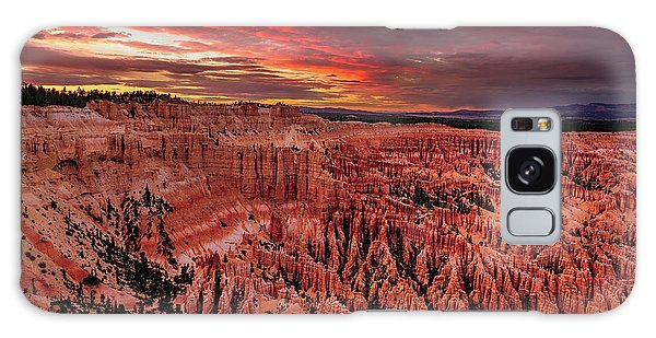 Sunset Clouds Over Bryce Canyon Galaxy Case