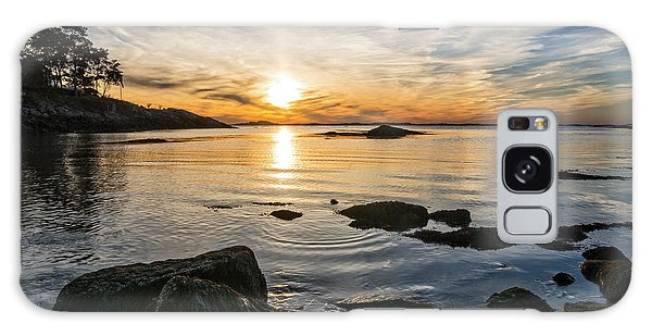 Galaxy Case featuring the photograph Sunset Cove Gloucester by Michael Hubley