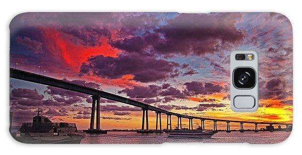 Sunset Crossing At The Coronado Bridge Galaxy Case