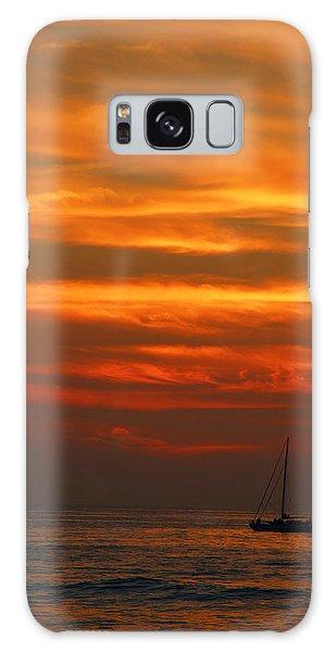 Sunset Cruise Waikoloa Hawaii Galaxy Case by Kerri Ligatich