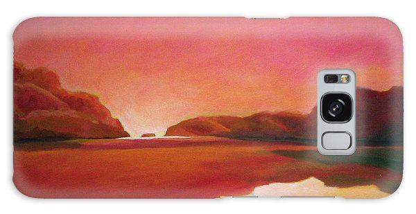Sunset Estuary Galaxy Case by Angela Treat Lyon
