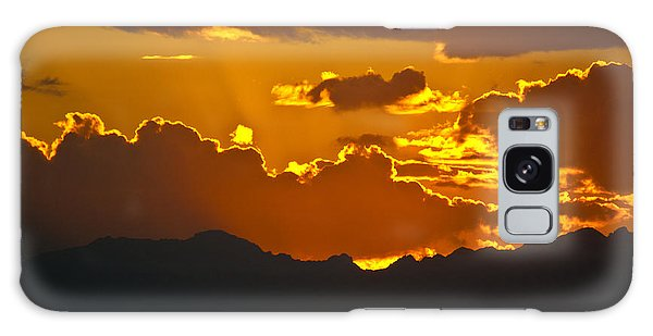 Sunset Fire Galaxy Case by Colleen Coccia