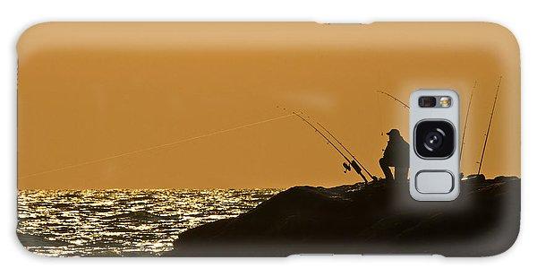 Sunset Fishermen Galaxy Case