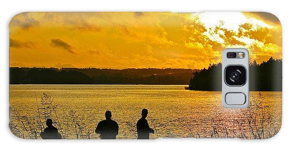 Sunset Fishermen Smith Mountain Lake Galaxy Case