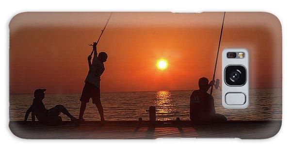 Sunset Fishermenr Galaxy Case