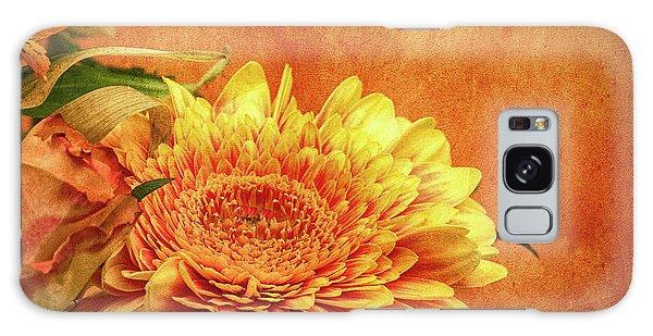 Sunset Flowers Galaxy Case
