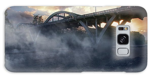 Sunset Fog At Caveman Bridge Galaxy Case by Mick Anderson