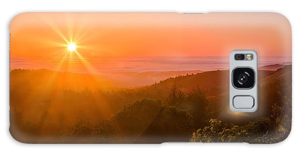 Sunset Fog Over The Pacific #1 Galaxy Case