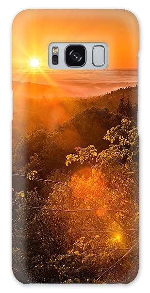 Sunset Fog Over The Pacific #2 Galaxy Case