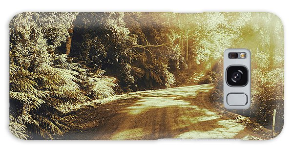 Faded Galaxy Case - Sunset Forest Drive by Jorgo Photography - Wall Art Gallery