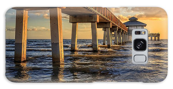 Galaxy Case featuring the photograph Sunset Fort Myers Beach Fishing Pier by Edward Fielding