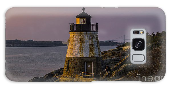 Sunset From Castle Hill Lighthouse. Galaxy Case
