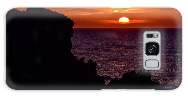 Sunset From Costa Paradiso Galaxy Case