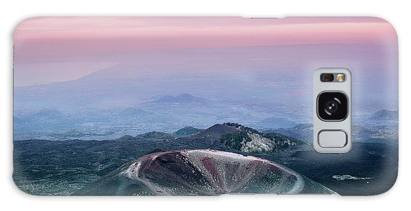 Sunset From The Top Of The Etna Galaxy Case
