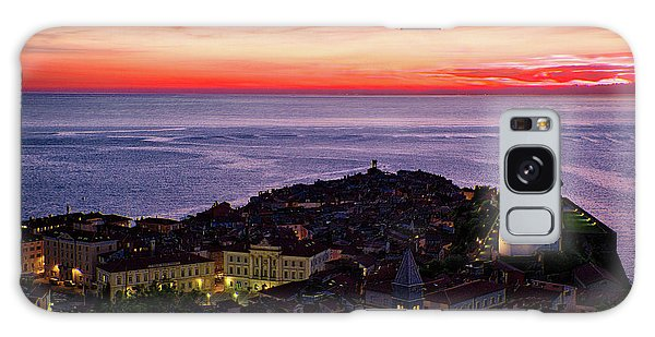 Galaxy Case featuring the photograph Sunset From The Walls #3 - Piran Slovenia by Stuart Litoff
