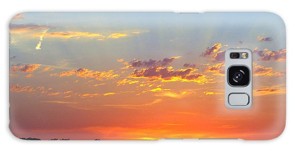Sunset Glory Orange Blue Galaxy Case by Jana Russon