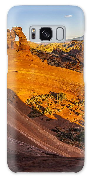 Sunset Glow On Delicate Arch Galaxy Case