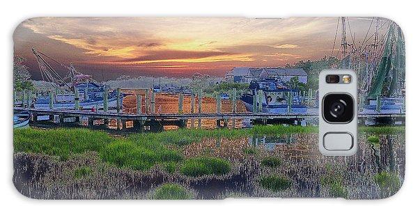 Sunset Harbor Dream Galaxy Case
