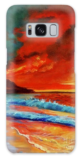 Sunset Hawaii Galaxy Case by Jenny Lee
