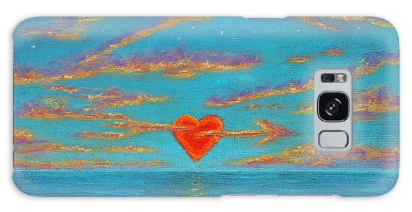Sunset Heart 01 Galaxy Case