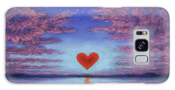 Sunset Heart 02 Galaxy Case