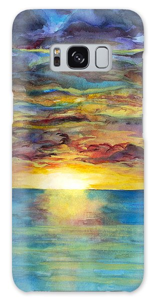 Galaxy Case featuring the painting Sunset II by Suzette Kallen