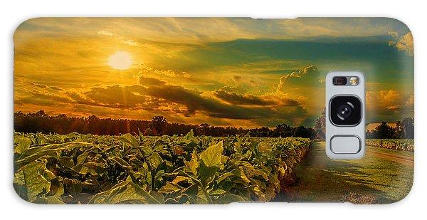 Sunset In A North Carolina Tobacco Field  Galaxy Case