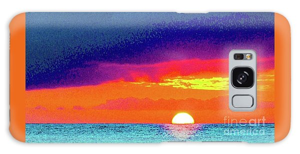 Sunset In Abstract  Galaxy Case