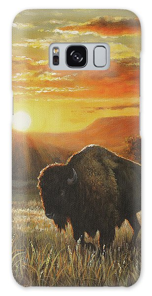 Sunset In Bison Country Galaxy Case