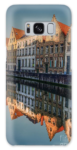 Sunset In Bruges Galaxy Case