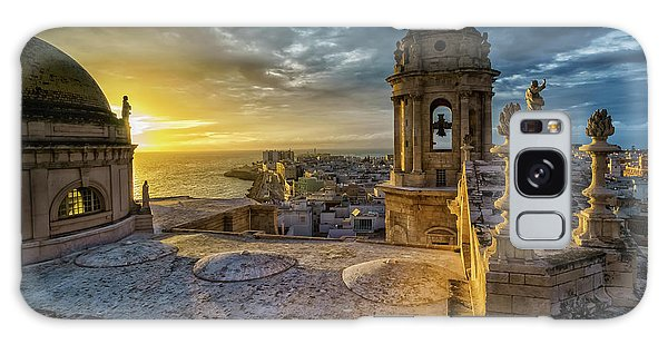 Galaxy Case featuring the photograph Sunset In Cadiz Cathedral View From Levante Tower Cadiz Spain by Pablo Avanzini