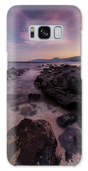 Sunset In Cala Gonone Galaxy Case